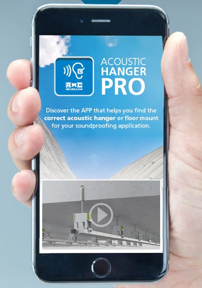 ACOUSTIC HANGER PRO: THE APP THAT HELPS YOU TO FIND THE CORRECT ACOUSTIC HANGER AND FLOATING FLOOR MOUNT