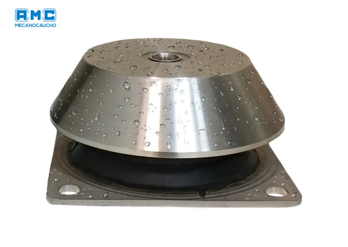 Anti-vibration BRBX stainless steel mounts from AMC-Mecanocaucho
