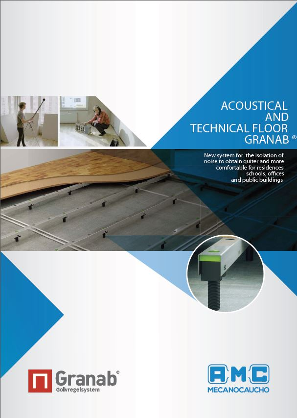 Acoustical and technical floor Granab