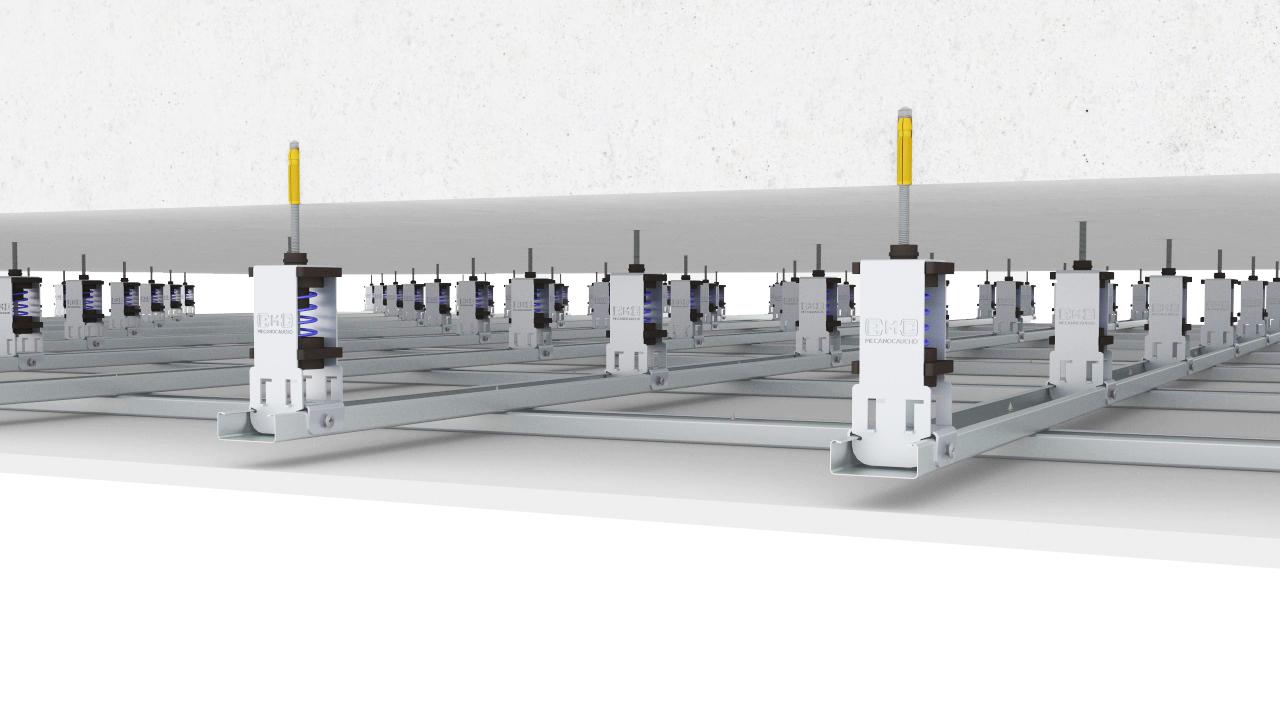 Bild der Einbausituation der AKUSTIK SPRINGTEC SUPER Wandentkoppler